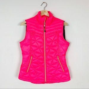 TEK GEAR Fluorescent neon puffer vest zip up small